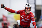 Mads Pedersen (DEN) Trek-Segafredo wins the 78th Edition of the Tour de l'Eurometropole 2018 running 206km from La Louviere to Tournai, France. 22nd September 2018.  <br /> Picture: Gregory Van Gansen/BettiniPhoto | Cyclefile<br /> <br /> <br /> All photos usage must carry mandatory copyright credit (&copy; Cyclefile | Gregory Van Gansen/BettiniPhoto)