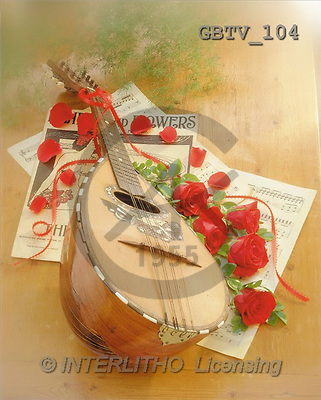 VALENTINE, photos, red roses, instrument(GBTV104,#V#)