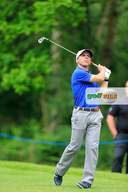 Gianfranco Zola playing with Francesco MOLINARI (ITA) during the Pro-Am the BMW PGA championship, Wentworth Golf Club, Virginia Waters, London.<br /> Picture: Fran Caffrey www.golffile.ie