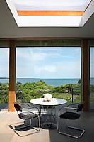 open roof living room