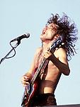 AC/DC 1980 Angus Young.© Chris Walter.