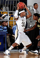 Florida International University guard Jeremy Allen (32) plays against Alabama State University, which won the game 60-57 on December 3, 2011 at Miami, Florida. .