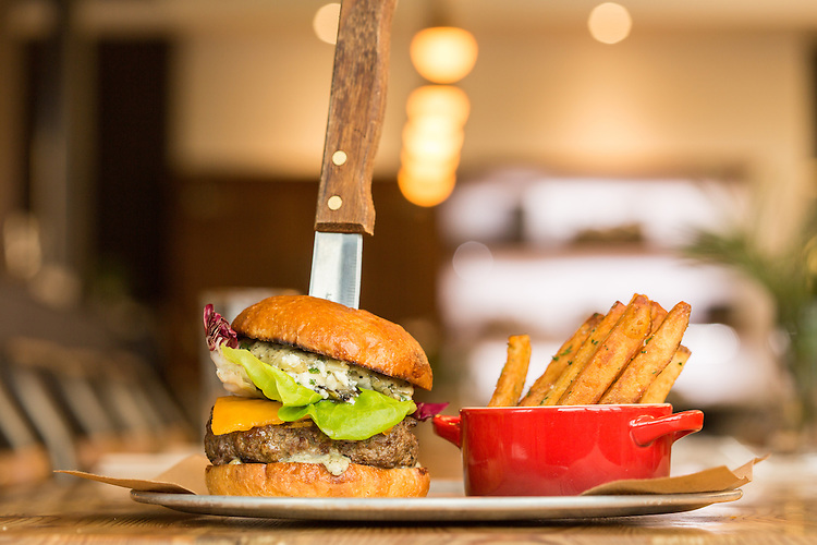 Raleigh, North Carolina - Friday January 22, 2016 - The Standard Burger, with local, grass-fed beef.