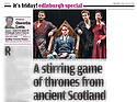 The James Plays, Daily Mail, 15.08.14