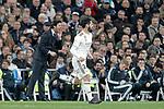 Real Madrid CF's coach Santiago Solari and Isco Alarcon during La Liga match. March 02,2019. (ALTERPHOTOS/Alconada)