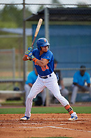 New York Mets Edgardo Fermin (84) during a Minor League Extended Spring Training game against the Miami Marlins on April 12, 2019 at First Data Field Complex in St. Lucie, Florida.  (Mike Janes/Four Seam Images)