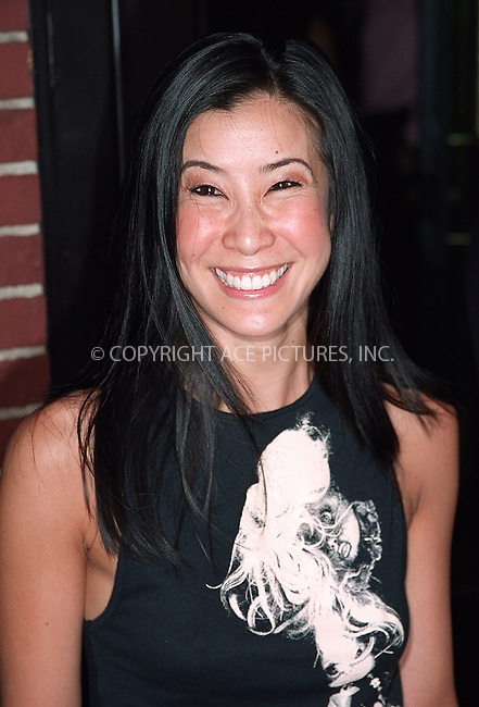 Lisa Ling arriving at the party celebration of the first anniversary of his club Man Ray. New York, July 10, 2002. Please byline: Alecsey Boldeskul/NY Photo Press.   ..*PAY-PER-USE*      ....NY Photo Press:  ..phone (646) 267-6913;   ..e-mail: info@nyphotopress.com
