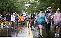 Tens of thousands of people were evacuated temporarily from Music Midtown Sunday afternoon for safety. Thunder and lightning delayed the festival for over an hour before the gates were re-opened, no acts were cancelled, and the festival schedule continued into the the night.