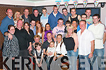 Danny Leane Jnr(seated centre) celebrated his 30th last Friday night in their own new Fab Abbey Inn Tralee with his wife Clair,baby Hollie and family, Manus,Sandy,Kerry and his mom Tess,unfortunately his Dad Danny was missing in action..