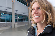 Woman at the Canada Games Centre in Whitehorse