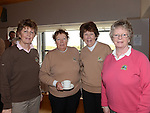 Breda Moore, Elizabeth Murphy, Frances Stanley and Eithne Maguire pictured at the Captain's drive in at Seapoint golf club. Photo:Colin Bell/pressphotos.ie