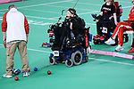 Eric Bussiere competes in  Boccia at the 2019 ParaPan American Games in Lima, Peru-1aug2019-Photo Scott Grant