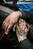 The hands of a steam engine owner at the Essex Country Show, Barleylands, Essex.