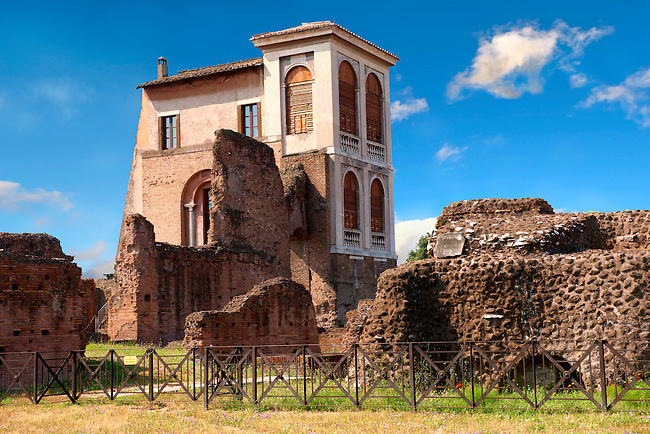 House on the Palatine hill,  Rome