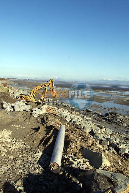 Erosion prevention at Annagasson...pic:Arthur Carron/ Newsfile.Tiff245k0158