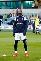Tom Elliott of Millwall warms up during the Sky Bet Championship match between Millwall and Birmingham City at The Den, London, England on 21 October 2017. Photo by Carlton Myrie.