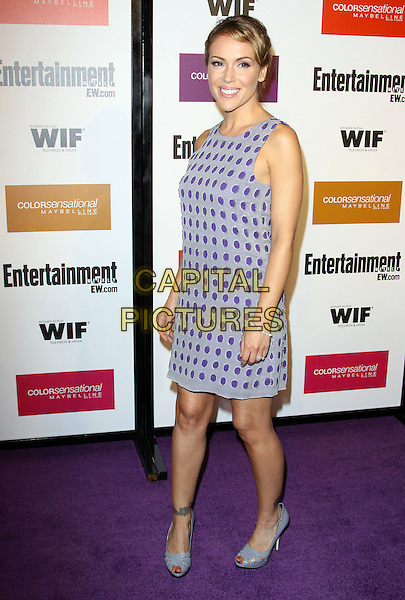 ALYSSA MILANO.2009 Entertainment Weekly & Women In Film pre-Emmy party held At The Sunset Marquis Hotel, West Hollywood, California, USA..September 17th, 2009.emmys full length purple polka dot dress sleeveless  .CAP/ADM/KB.©Kevan Brooks/AdMedia/Capital Pictures.