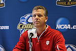 08 December 2012: Indiana head coach Todd Yeagley. The Indiana University Hoosiers held a press conference at Regions Park Stadium in Hoover, Alabama one day before playing in the 2012 NCAA Division I Men's Soccer College Cup championship game.