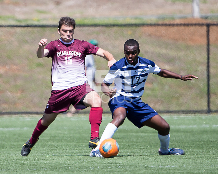 The College of Charleston Cougars played the  Georgia Southern Eagles in The Manchester Cup on April 5, 2014.  The Cougars won 2-0.  Hugo Coicaud (17), Brock King (15)