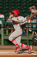 D'Marcus Ingram of the Palm Beach Cardinals during the game at Jackie Robinson Ballpark in Daytona Beach, Florida on July 30, 2010. Photo By Scott Jontes/Four Seam Images