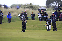 Tyrrell Hatton (ENG) on the 3rd fairway during Round 1 of the Betfred British Masters 2019 at Hillside Golf Club, Southport, Lancashire, England. 09/05/19<br /> <br /> Picture: Thos Caffrey / Golffile<br /> <br /> All photos usage must carry mandatory copyright credit (© Golffile | Thos Caffrey)