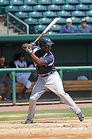 Pensacola Blue Wahoos Marquez Smith (21) in action during a game against the Jacksonville Suns at Bragan Field on the Baseball Grounds of Jacksonville on May 11, 2015 in Jacksonville, Florida. Jacksonville defeated Pensacola 5-4. (Robert Gurganus/Four Seam Images)