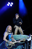 IRON MAIDEN - Janick Gers and Bruce Dickinson - performing live on Day Three on the Lemmy Stage at the Download Festival at Donington Park UK - 12 Jun 2016.  Photo credit: Zaine Lewis/IconicPix