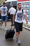 Spainsh Jordi Alba  arriving at the concentration of the spanish national football team in the city of football of Las Rozas in Madrid, Spain. August 28, 2017. (ALTERPHOTOS/Rodrigo Jimenez)