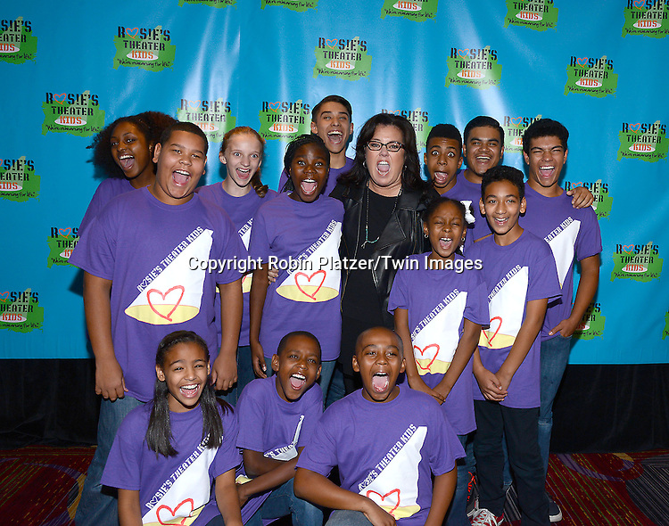 Rosie O' Donnell and the kids attend Rosie O'Donnell's 11th Annual Rosie's Theater Kids Gala on September 22, 2014 at The New York Marriott Marquis in New York City. <br /> <br /> photo by Robin Platzer/Twin Images<br />  <br /> phone number 212-935-0770