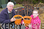 Connie Doolan Kilcummin and his granddaughter Cáitlin who have grown trees to sell to help raise funds for the Parkinson's Society