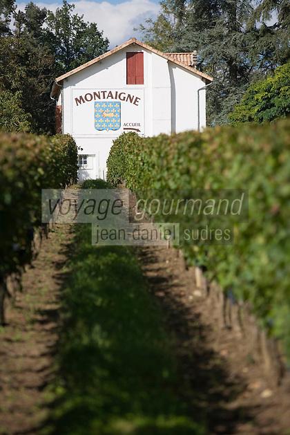 Europe/France/Aquitaine/33/Gironde/Saint Michel de Montaigne: Chateau Montaigne AOC Bergerac