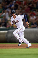 Minnesota Twins pinch runner Max Kepler (67) running the bases during a Spring Training game against the Boston Red Sox on March 16, 2016 at Hammond Stadium in Fort Myers, Florida.  Minnesota defeated Boston 9-4.  (Mike Janes/Four Seam Images)