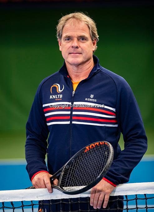 Almere,  Netherlands, 6 November 2018, NTC, coach  juniors KNLTB Marcel Vos (NED)<br /> Photo: Tennisimages.com/Henk Koster