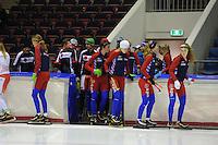 SCHAATSEN: HEERENVEEN: 24-10-2014, IJsstadion Thialf, Schaatstraining, ©foto Martin de Jong