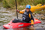 Local Reno kayaker Ruth Gorden Ebens at the Reno Riverfestival 2014 freestyle kayaking