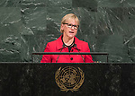 72 General Debate &ndash; 22 September <br /> <br /> <br /> <br /> Minister for Foreign Affairs of Sweden,  Margot Wallstr&ouml;m.
