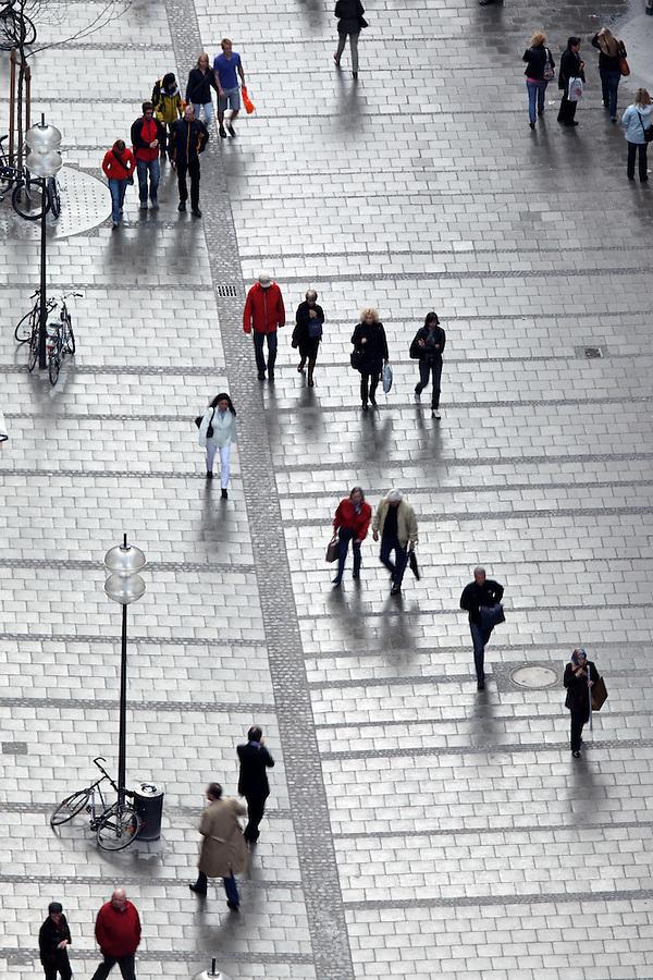 People walking along Sendlingerstrasse, Old Town Munich, München, Bavaria, Germany, Deutschland, Europe