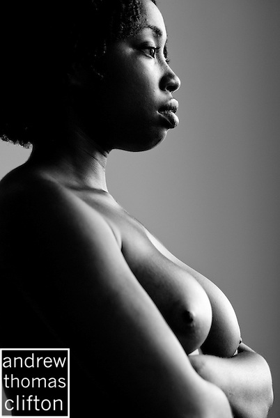 Nude African American Model During Studio Session