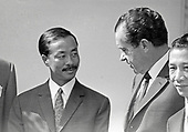 "United States President Richard M. Nixon meets Vice President Nguyen Cao Ky, of the Federal Republic of Vietnam (South Vietnam) at the White House in Washington, DC on April 1, 1969.  Ky was visiting the Nation's Capital for the State Funeral of former US President Dwight D. Eisenhower.<br /> Credit:Benjamin E. ""Gene"" Forte / CNP"