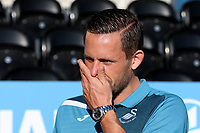 Gylfi Sigurdsson of Swansea City on the pitch pre-match at 'The Hive' during Barnet vs Swansea City, Friendly Match Football at the Hive Stadium on 12th July 2017