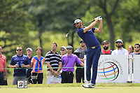 Dustin Johnson (USA) tees off the 3rd tee during Sunday's Final Round of the WGC Bridgestone Invitational 2017 held at Firestone Country Club, Akron, USA. 6th August 2017.<br /> Picture: Eoin Clarke | Golffile<br /> <br /> <br /> All photos usage must carry mandatory copyright credit (&copy; Golffile | Eoin Clarke)