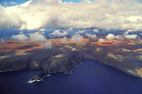 Aerial view of Kamohio on the island of Kahoolawe, Hawaii