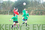 Action from the  FAI U15 Junior Cup Camp Juniors V  Regional United in Camp on Saturday
