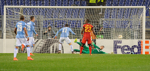 25.02.2016. Stadio Olimpico, Rome, Italy. Uefa Europa League, Return leg of SS Lazio versus Galatasaray. The goal of Miroslav Klose