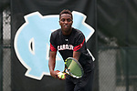 CHAPEL HILL, NC - MAY 13: South Carolina's Yancy Dennis. The University of North Carolina Tar Heels hosted the University of South Carolina Gamecocks on May 13, 2017, at The Cone-Kenfield Tennis Center in Chapel Hill, NC in an NCAA Division I Men's College Tennis Tournament second round match. UNC won 4-1.