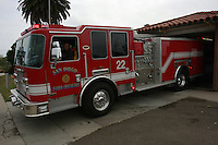 May, Point Loma San Diego, CA, USA.  Fire Station 22 take delivery of one of eight brand new 2007 KME Predator Type I Fire Engines.  Each truck, built in Nesquehoning, PA costs roughly $582K includign communications, firefighting and medicla equipment.