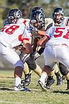 Palos Verdes, CA 09/27/13 - Justin Jimena (Peninsula #70) in action during the Lawndale vs Palos Verdes Peninsula Varsity football game at Peninsula High School.