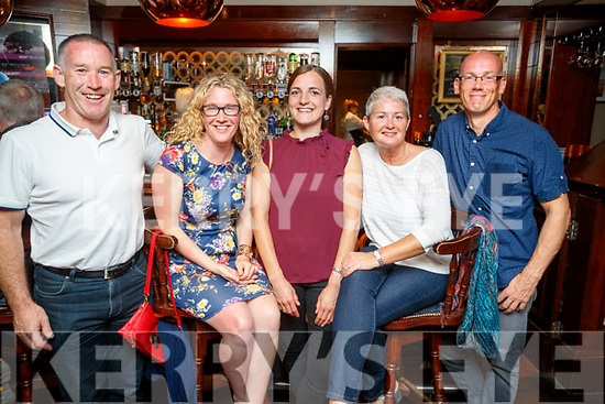 Friends enjoying a night out in Benners after the triathlon on Saturday evening, from left: Tom Gentleman, Sinead Kelleher, Katharina Schlueter, Trish Murray and Fean McElligott.