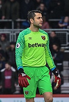 West Ham United's Lukasz Fabianski <br /> <br /> Photographer David Horton/CameraSport<br /> <br /> The Premier League - Bournemouth v West Ham United - Saturday 19 January 2019 - Vitality Stadium - Bournemouth<br /> <br /> World Copyright © 2019 CameraSport. All rights reserved. 43 Linden Ave. Countesthorpe. Leicester. England. LE8 5PG - Tel: +44 (0) 116 277 4147 - admin@camerasport.com - www.camerasport.com