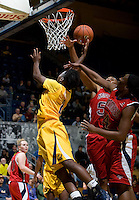 Afure Jemerigbe of California shoots the ball during the game against St. Mary's at Haas Pavilion in Berkeley, California on November 15th, 2012.  California defeated St. Mary's, 89-41.